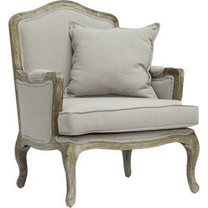 Constanza Classic Antiqued French Accent Chair - Beige
