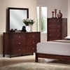 Montana 5-Piece Queen Bedroom Set - Bookcase Bed, Mahogany - WI-TAB25-5PC-BEDROOM-SET