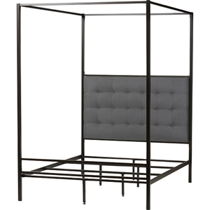 Eleanor Metal Canopy Queen Bed - Black