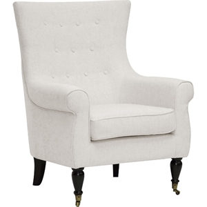 Osmaston Linen Accent Chair - Casters, Beige