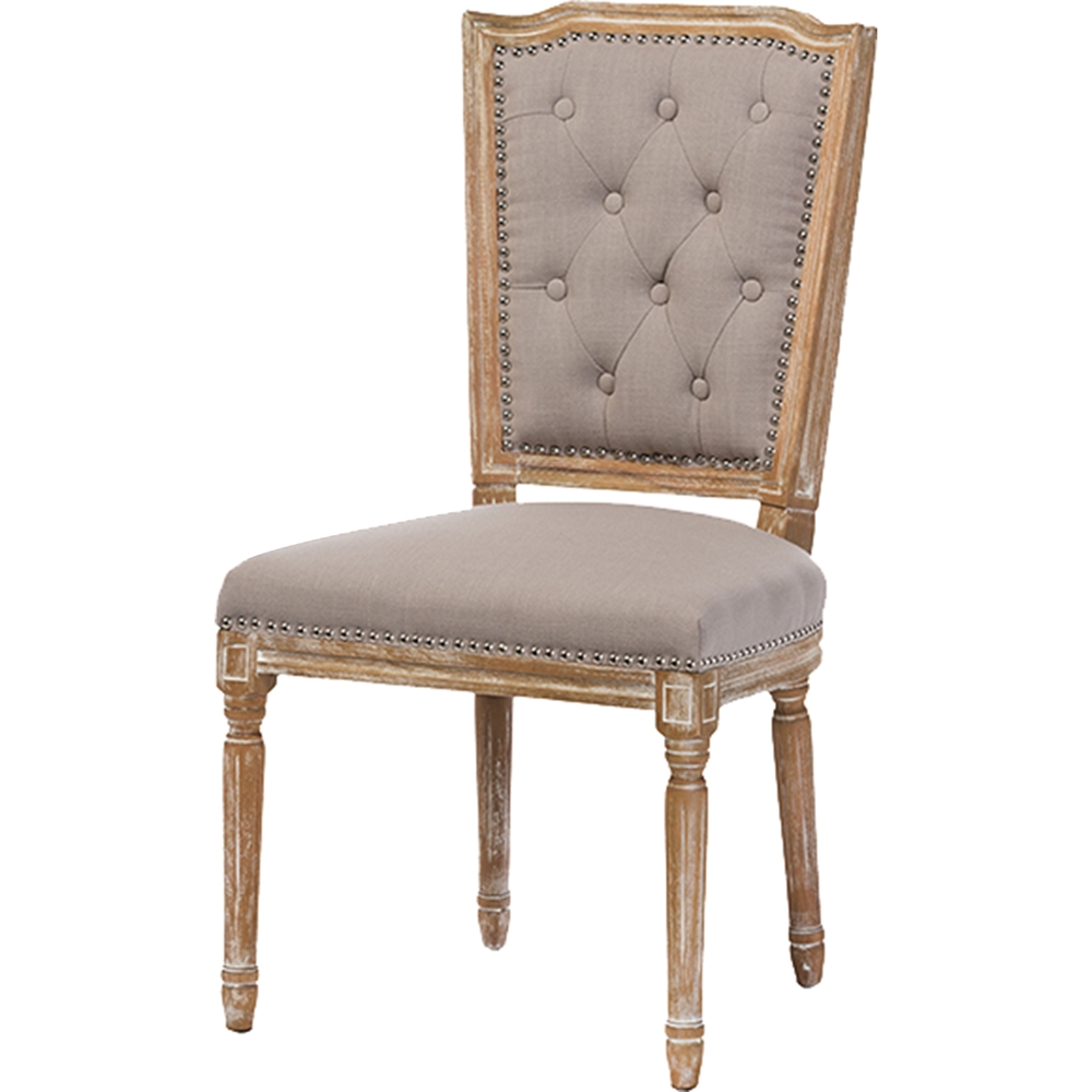 Estelle Fabric Upholstered Dining Chair - Button Tufted ...