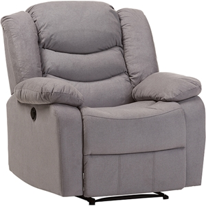 Lynette Fabric Power Recliner Chair - Gray