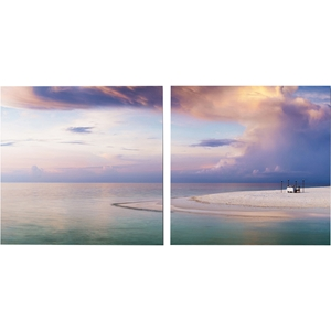 Pastel Romance Mounted Photography Print Diptych - Multicolor