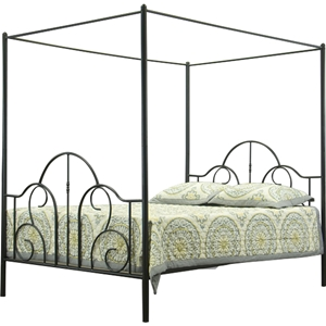 Monticello Queen Canopy Bed - Black