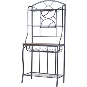 Corsica Bakers Rack - Black, Brown