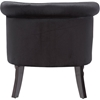 Flax Velvet Upholstered Accent Chair - Button Tufted, Black - WI-WS-GK756-BLACK