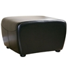 Oxford Full Leather Ottoman in Black - WI-Y-051-J023