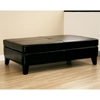 Hilary Leather Cocktail Ottoman - Black - WI-Y-192-J023