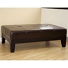 Trina Full Leather Cocktail Ottoman in Dark Brown - WI-Y-193-J001
