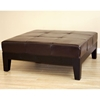 Dana Full Leather Cocktail Ottoman in Dark Brown - WI-Y-195-J001