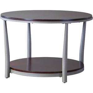 Halo Round Coffee Table - Brown