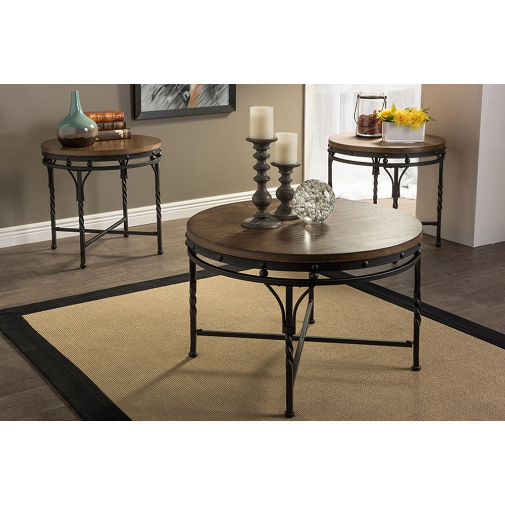 austin round coffee cocktail table ylx2687ct wi