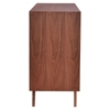Father Buffet Table - Walnut and White - ZM-100153