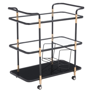 Secret Serving Cart - Black and Gold
