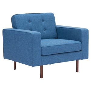 Puget Arm Chair - Tufted, Blue