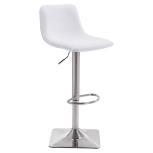 Cougar Bar Chair - Adjustable, White