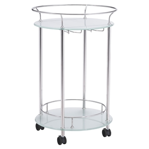 Plato Serving Cart - Stainless Steel