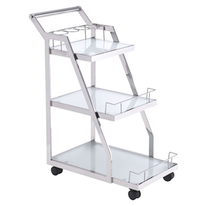 Acropolis Serving Cart - Stainless Steel