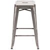 "Marius 26"" Backless Counter Chair - Steel, Gunmetal - ZM-106114"